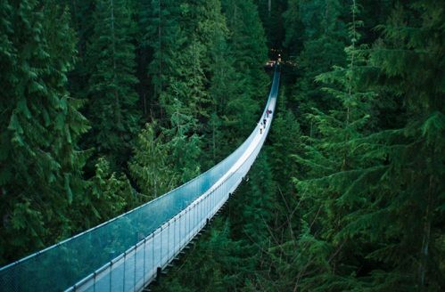 Ponte suspensa de Capilano, Vancouver, Canada