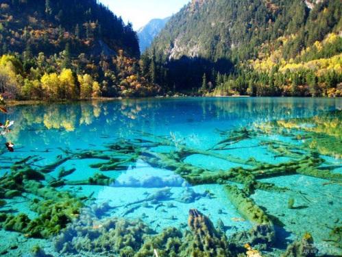 Lagos Crystalline Turquoise, Parque Nacional de Jiuzhaigou, China