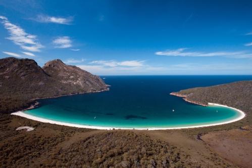 Wineglass Bay, Parque Nacional de Freycinet, Tasmânia, Austrália